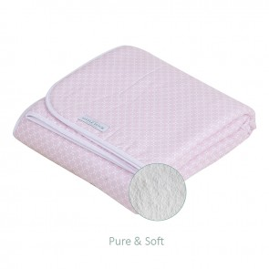 Wiegdeken Pure&Soft Sweet Pink - Little Dutch