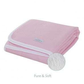 Wiegdeken Pure&Soft Medium Pink - Little Dutch