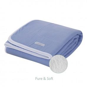 Wiegdeken Pure&Soft Medium Blue - Little Dutch