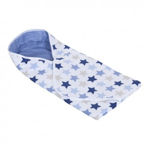 Omslagdoek Mixed Stars Blue - Little Dutch