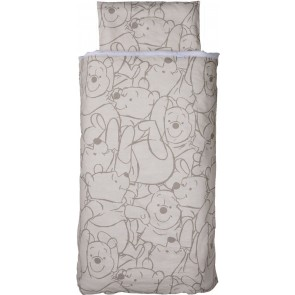 Dekenhoes ledikant Pooh Bakkery brown all-over – Anel