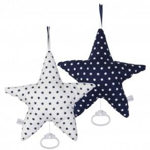 Muziekdoos Ster Blauw met witte ster & wit met blauwe ster - Little Dutch