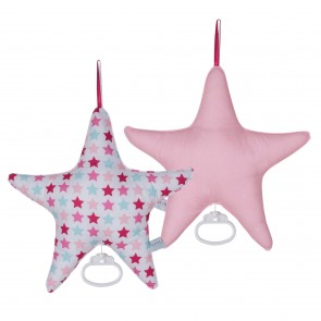 Muziekdoos ster Mixed Stars Pink - Little Dutch