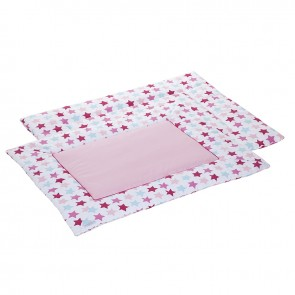 Boxkleed 80 x 100 Mixed Stars Pink - Little Dutch