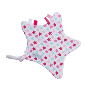 Knuffeldoekje Ster Mixed Stars Pink - Little Dutch