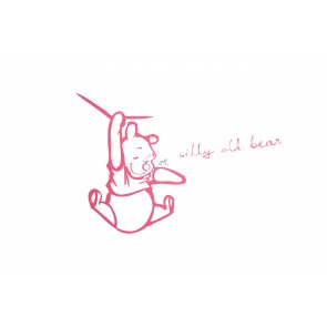 Muursticker middel Silly Pooh pink - Anel