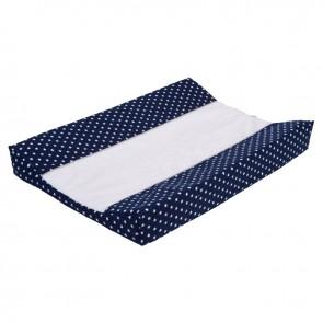 Aankleedkussenhoes Blauw met witte ster - Little Dutch