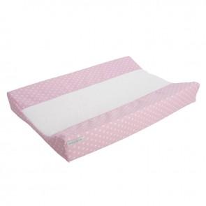 Aankleedkussenhoes Roze met witte ster - Little Dutch