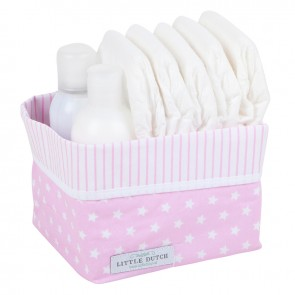Commodemandje klein Roze witte ster - Little Dutch