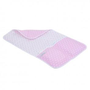 Verschoningsmatje Roze met witte ster & wit roze ster - Little Dutch