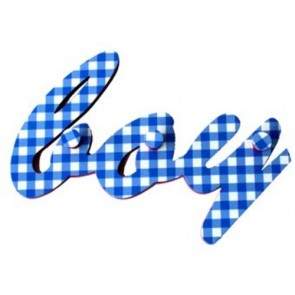 Kapstok ruit blauw Boy - Pakhuis Oost