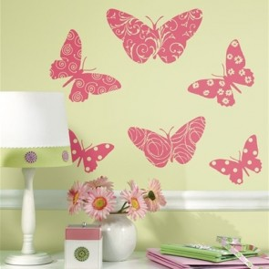Muurstickers Flocked Butterfly - RoomMates