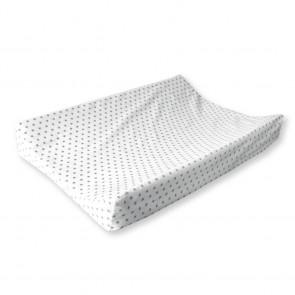 Aankleedkussenhoes Sterretjes Wit met Grijs - Cottonbaby