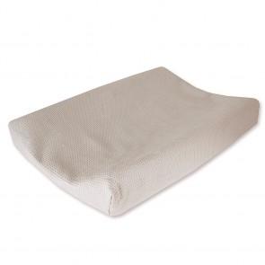 Aankleedkussenhoes Wafel Zand - Cottonbaby