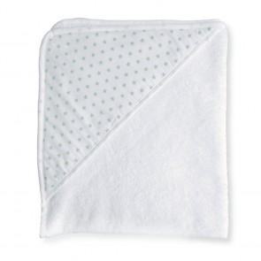 Badcape Sterretjes Wit met Mint - Cottonbaby