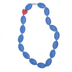 Bijtbare ketting  Bridget blauw - Smartmama