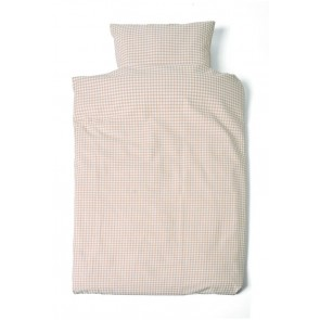 Dekbedovertrek 1-persoons Ruit Zand - Cottonbaby