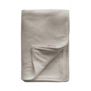 Wiegdeken Wafel / Velours Zand - Cottonbaby
