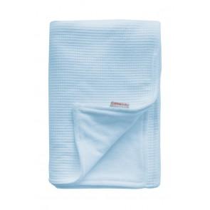 Wiegdeken Wafel / Velours Lichtblauw - Cottonbaby