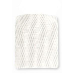 Dekenhoes Sterretjes Wit met Zand voor ledikant - Cottonbaby