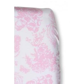 Hoeslaken Toile de joey Roze vlinder voor wiegmatras - Cottonbaby