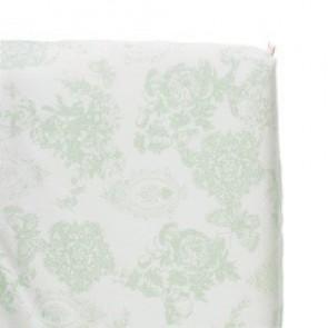 Hoeslaken Toile de joey Mint vlinder voor ledikantmatras - Cottonbaby