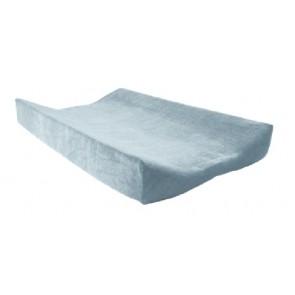 Aankleedkussenhoes badstof lichtblauw - Jollein