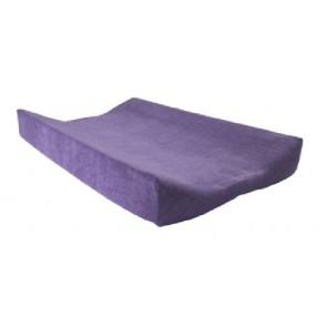 Aankleedkussenhoes badstof paars - Jollein