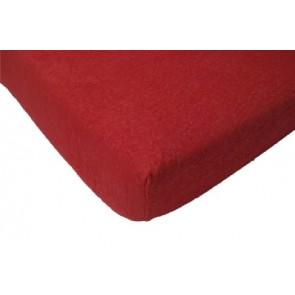 Hoeslaken ledikant badstof rood 60 x 120 - Jollein