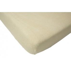 Hoeslaken wieg badstof vanille 40 x 80 cm - Jollein