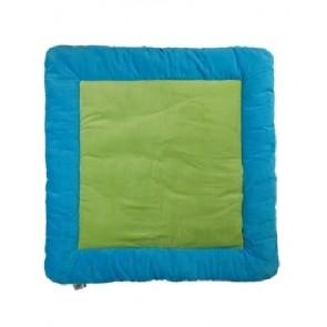 Boxkleed vierkant turquoise/lime 90x90 cm - Jollein