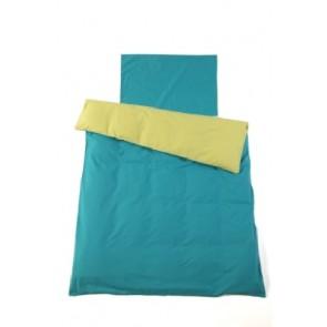 Dekenhoes wieg turquoise / lime - Jollein