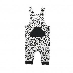 Salopette Leopard Black & White - Jollein