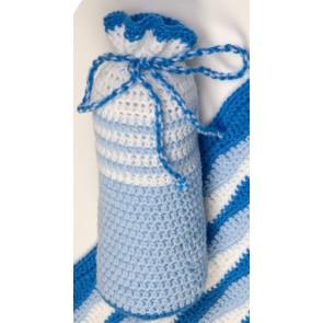 Kruikenzak handgemaakt blauw wit - Handmade by