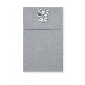 Wieglaken Woezel en Pip grijs - Cottonbaby