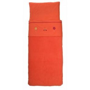 Wieglaken met sloopje Butterfly oranje - Jollein