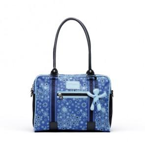 Schoudertas voor onderweg donkerblauw - Little Company