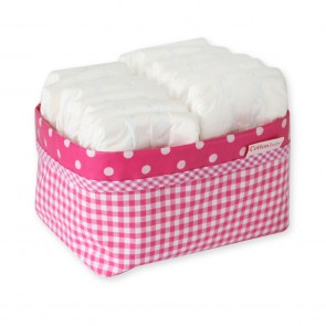 Commodemandje Ruit Fuchsia - Cottonbaby