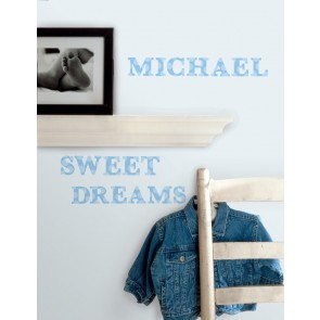 Muurstickers Express Yourself Alfabet blauw - RoomMates