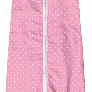 Slaapzak met mouw Stip roze 80 cm - Cottonbaby