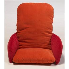 Stoelverkleiner velours oranje / rood - Jollein