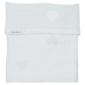 Wiegdeken Altea Hearts Soft Mint / White - Koeka