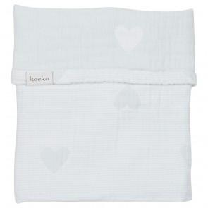 Wiegdeken Altea Hearts Soft Mint / White - Koeka