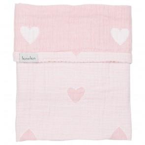 Wiegdeken Altea Hearts Water Pink - Koeka