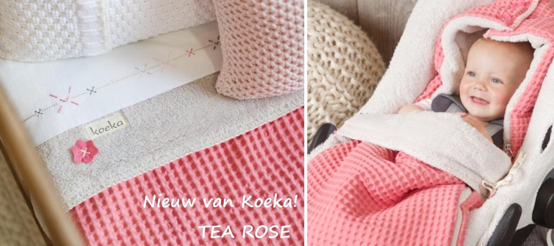 Koeka babykamer thema Tea Rose / White