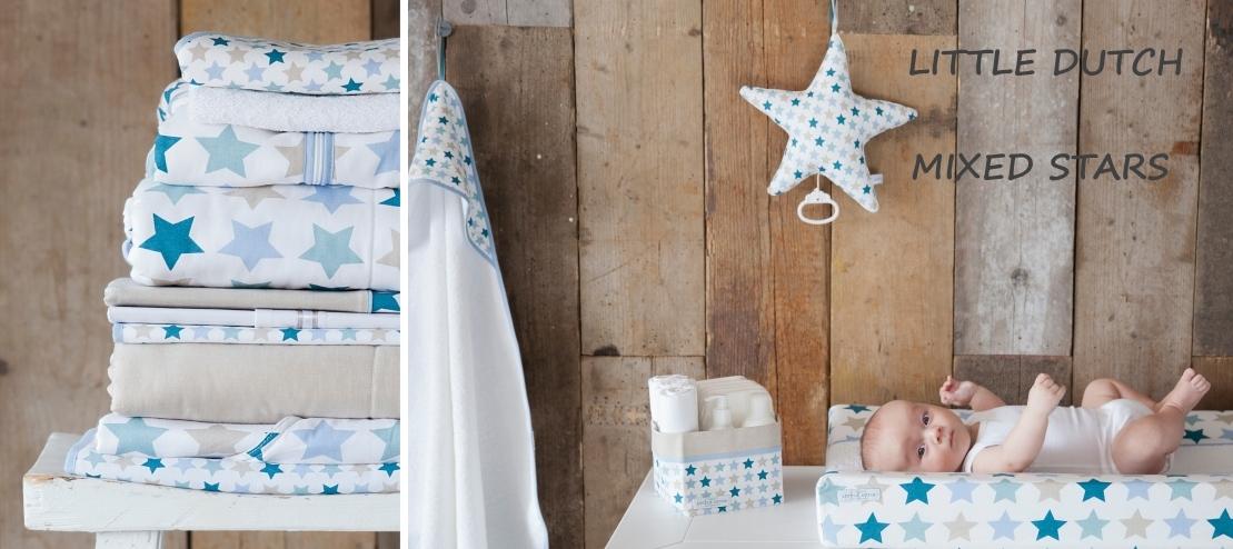 Babykamer Thema Little Dutch mixed stars